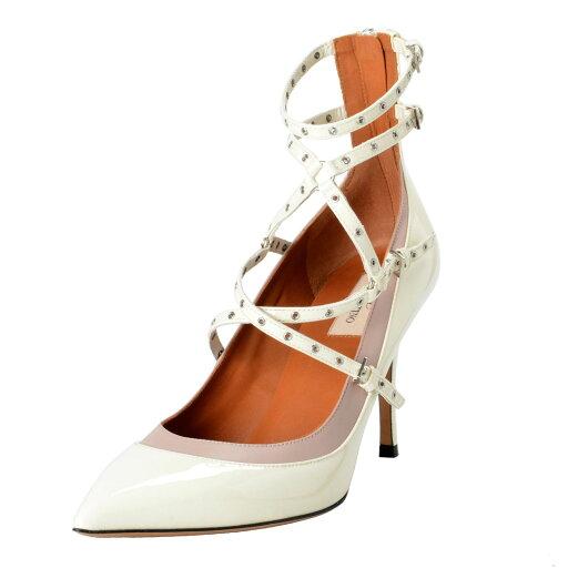Valentino Garavani Women's Off White Ankle Strap Pumps Shoes