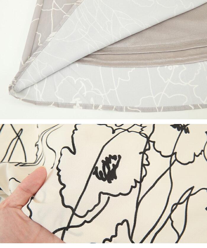 日本Titivate  /  滿版印花腰鬆緊雪紡長裙  /  avjr1100  /  日本必買 日本樂天直送(3590) /  件件含運 4