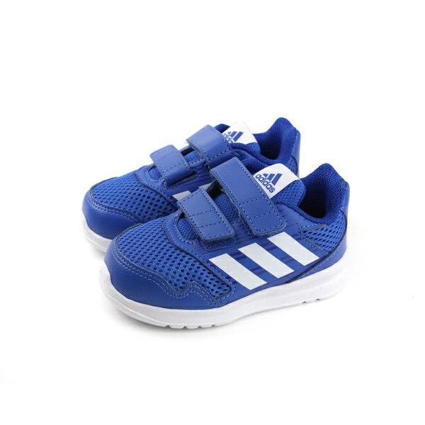 adidasAltaRunCFI運動鞋童鞋藍色魔鬼氈小童CQ0028no553