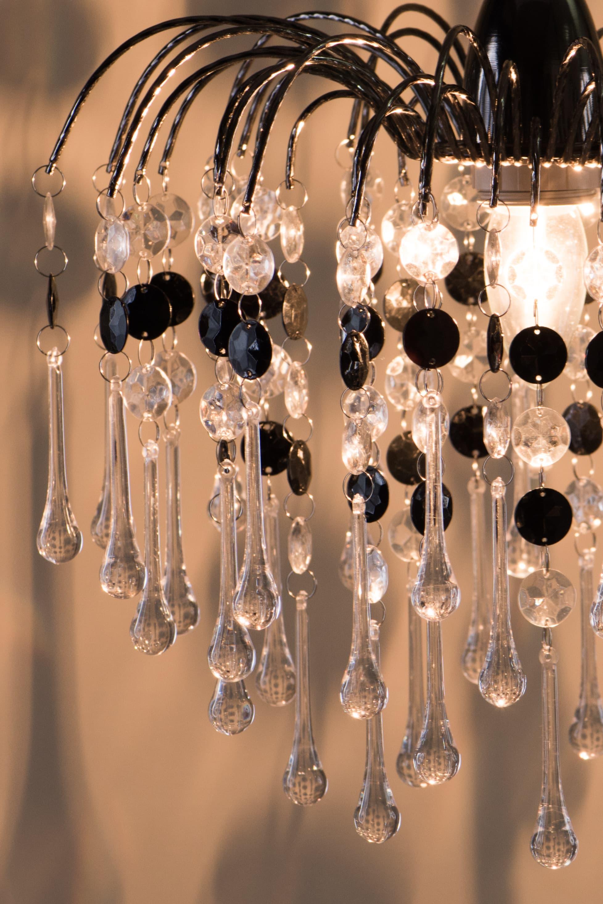 鍍鉻噴泉支架黑色壓克力珠吊燈-BNL00042 3