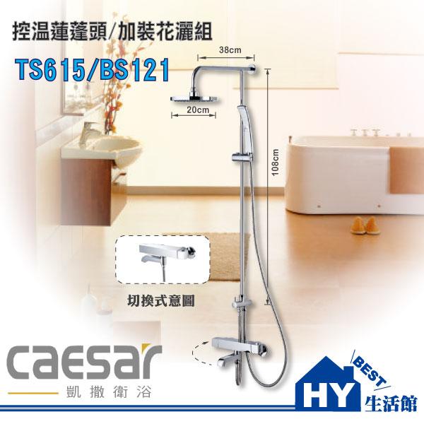凱撒衛浴 TS615/BS121 控溫蓮蓬頭/加裝花灑組《HY生活館》水電材料專賣店