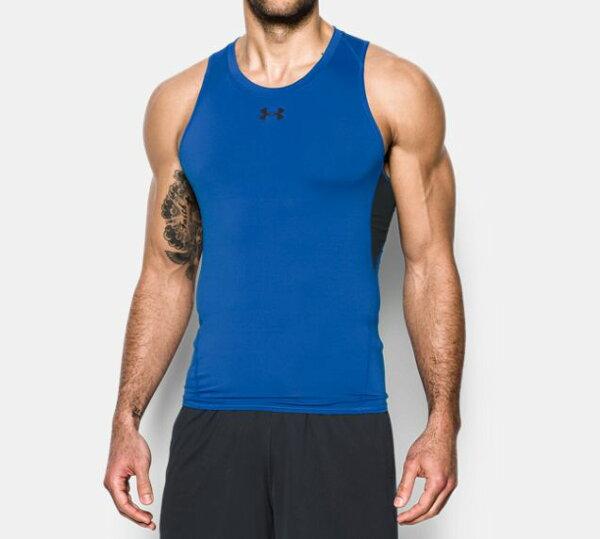 《UA出清5折》Shoestw【1271335-789】UNDERARMOURUA服飾緊身衣背心運動束衣排汗透氣藍色男生