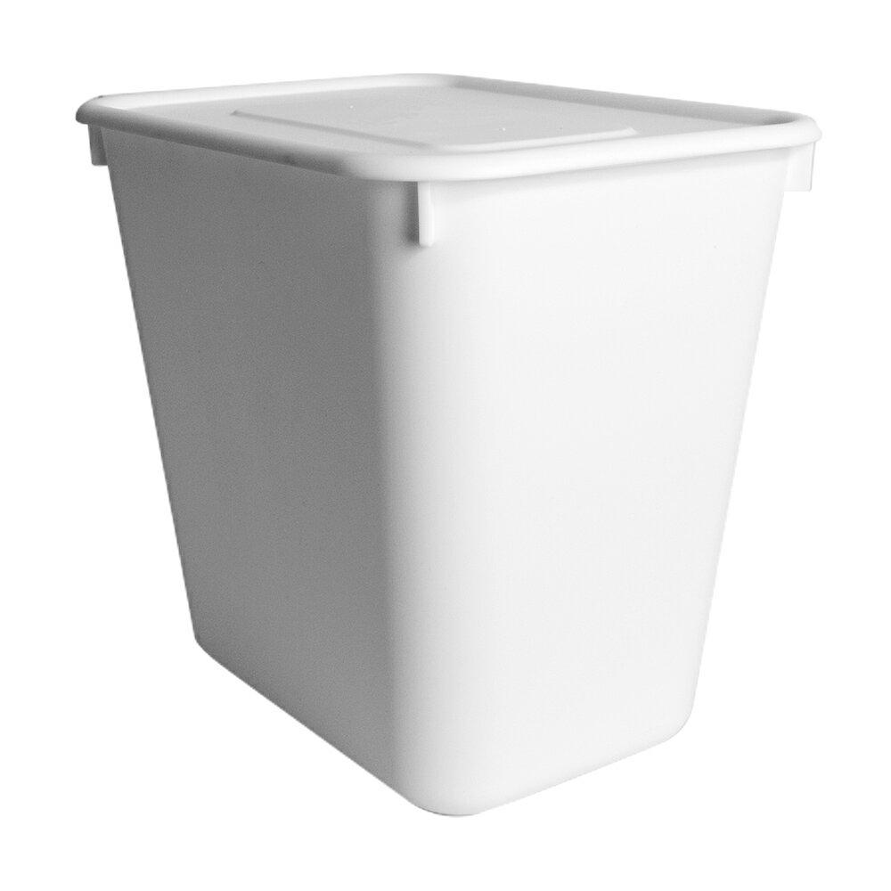 HOUSE【005156-01】純白牛奶附蓋收納盒-圓角2號-小高桶(6入) 台灣製造