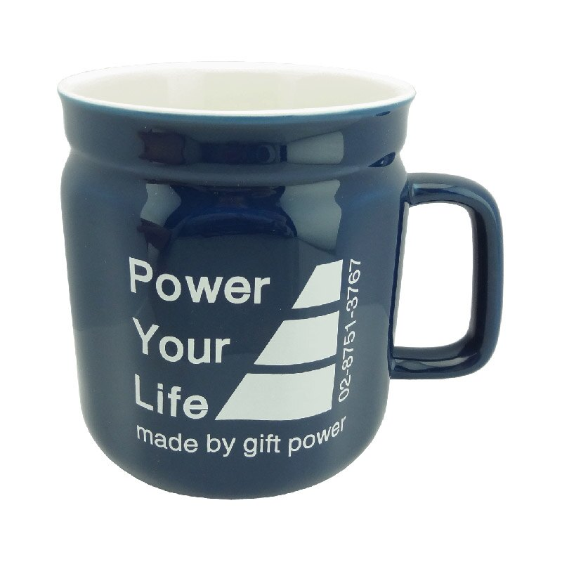 Power Your Life 馬克杯(藍) 550ml 陶瓷杯 水杯 咖啡杯 茶杯 公司杯 5217SHOPPING