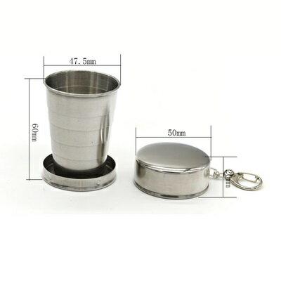 不鏽鋼杯 摺疊隨行杯-便攜75ml隨身201不鏽鋼水杯73pp498【獨家進口】【米蘭精品】 2