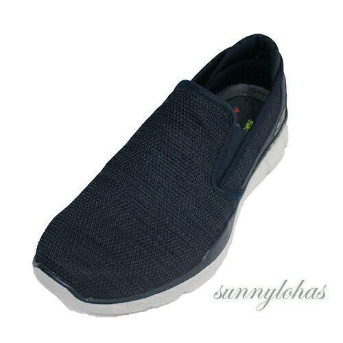 SKECHERS(男)休閒運動鞋EQUALIZER3.0健走鞋輕量柔軟-52937NVY牛仔藍[陽光樂活]