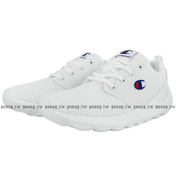 Shoestw【911210200】【911220200】Champion CAMPUS AI 休閒鞋 網布 條紋 白色 男女尺寸 情侶款 0