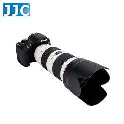 又敗家@黑色JJC副廠遮光罩Canon遮光罩ET-87遮光罩(插刀式可反扣倒裝相容佳能Canon原廠遮光罩)適EF 70-200mm f2.8L II III IS USM第2代第3代小白遮光罩f/2.8L f2.8 1:2.8L 1:2.8 L ET87遮光罩ET87太陽罩ET-87遮陽罩ET-87遮罩Flower Lens Hood