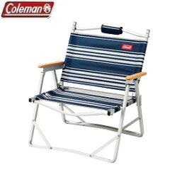 [ Coleman ] 圍爐輕薄折疊椅 藍/白 / 公司貨 CM-31288