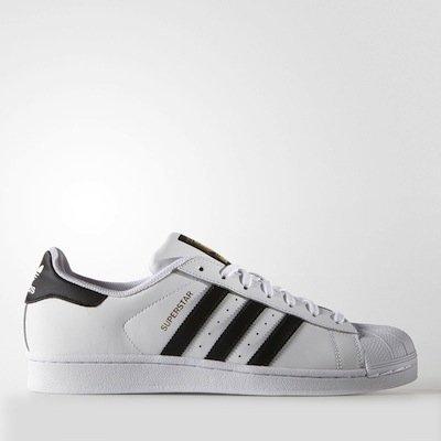 ADIDAS ORIGINALS SUPERSTAR 白 黑 金標 男鞋 US 8~13 C77124 D.E