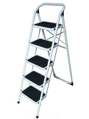 金梯屋LH-05鐵梯  大踏板5階工作梯 扶手梯 折疊梯