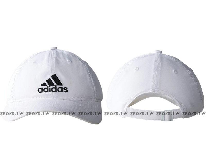 Shoestw【S20437】ADIDAS 運動 棒球帽 老帽 UPF50+ 防曬 白色 後扣可調整