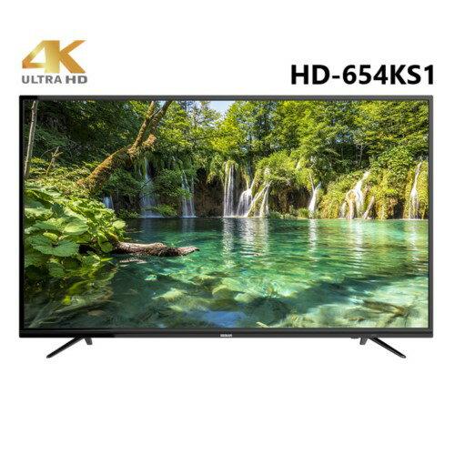 HERAN 禾聯 65吋 護眼低藍光4K內建聯網LED液晶顯示器+視訊盒 HD-654KS1