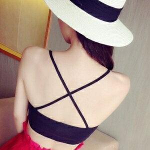 美麗大街【IR2613】露背背后交叉吊带小背心 小可愛(有墊)