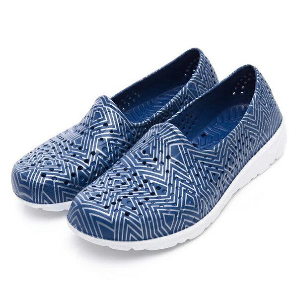 《2019新款》Shoestw【92U1SA06DB】PONY TROPIC 水鞋 軟Q 防水 懶人鞋 洞洞鞋 深藍色銀線 男女尺寸都有 0