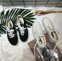 情人節禮物推薦到FINDSENSE MD 韓國 時尚潮 男 經典款 百搭 情侶款 純色 圓頭 平底帆布鞋 休閒鞋 小白鞋