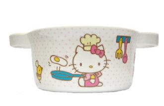 【真愛日本】9070900010 雙耳湯杯-烹飪 三麗鷗 kitty 凱蒂貓 湯碗 美耐皿 台灣製