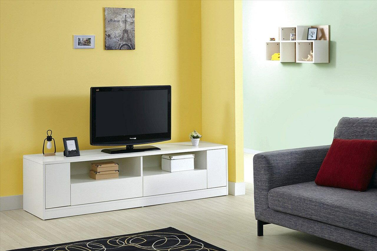 【石川家居】GD-303-1 全白系統6尺電視櫃 (不含其他商品) 需搭配車趟費