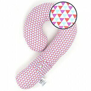 小烏龜精品童裝店:寶貝出遊必備好物ORGANICFACTORY拐杖糖多用途抱枕-粉色三角形