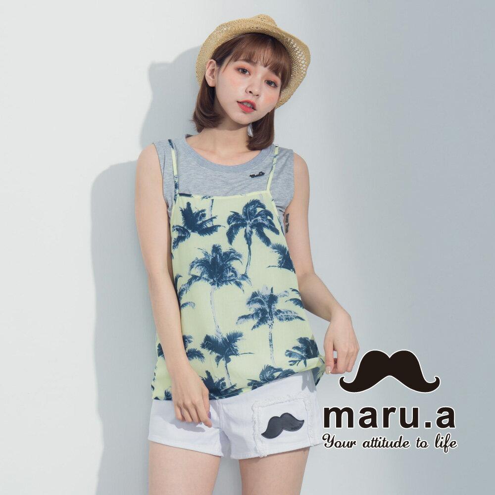 【maru.a】夏日椰子樹兩件式背心7323121 0
