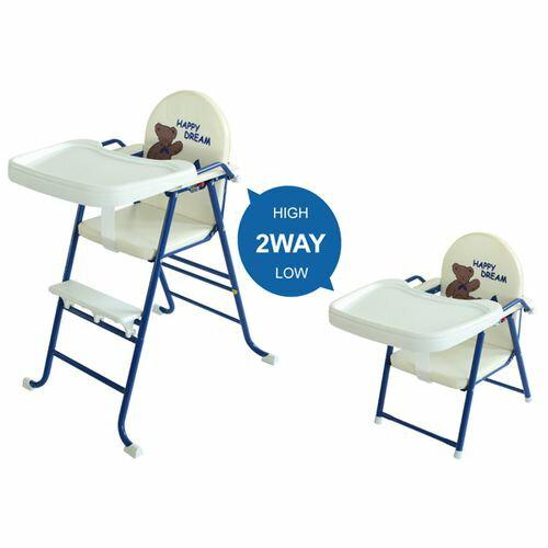 ★衛立兒生活館★L.A. Baby 美國加州貝比 High-Low高低可調兩用嬰兒/兒童餐椅-海軍藍