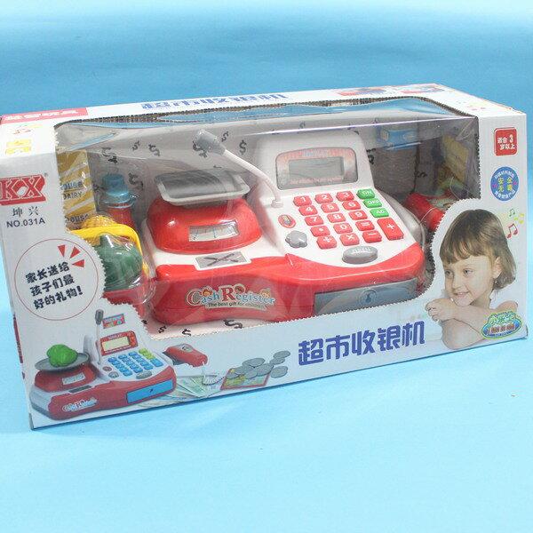 坤興超市音效收銀機 NO.031A 大型電動收銀機玩具(附電池) / 一盒入 { 促650 } ~大生(T2654) 2