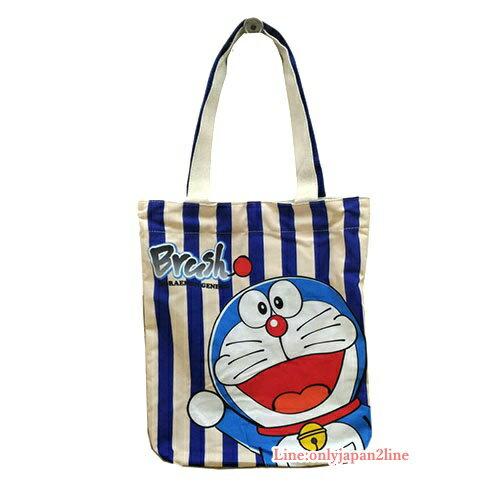 【真愛日本】 17040600001 帆布手提袋 Doraemon 哆啦A夢 小叮噹 包包 肩背包 正版