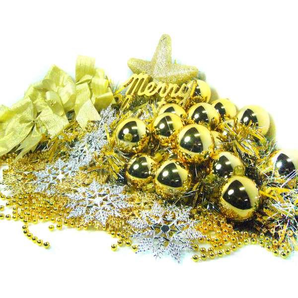 聖誕裝飾配件包組合~金銀色系 (10尺(300cm)樹適用)(不含聖誕樹)(不含燈) YS-DS10005