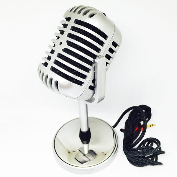 專業麥克風復古麥克風電容麥克風電腦麥克風懷舊麥克風【AF0013】電容式高感度 金屬質感