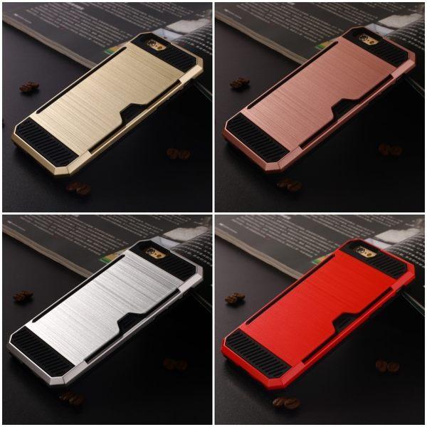 IPHONE手機殼 悠遊卡手機殼 保護殼 背蓋 iphone 6s plus【DA0122】防摔 防刮 插卡 拉絲
