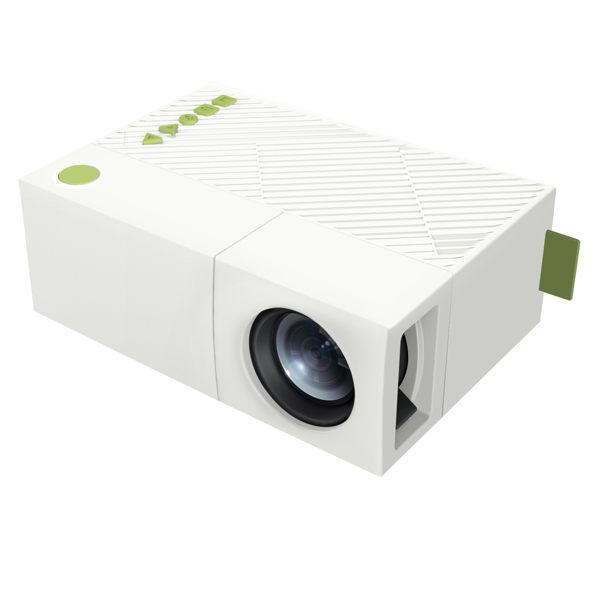 微型投影機 手機投影機 迷你投影機【AB0033】超微形便攜式隨身電影院 - 白綠款