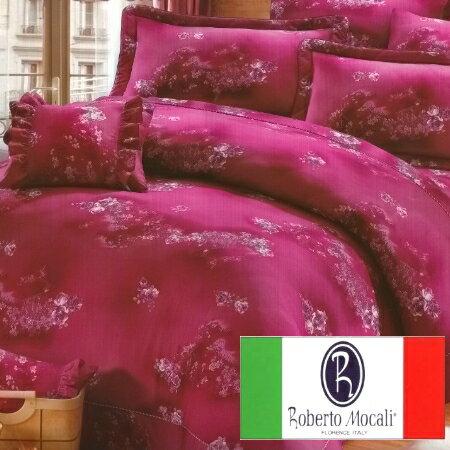 雙人床罩七件組【諾貝達 • 莫卡利Roberto Mocali】40支紗精梳棉.華隆寢飾