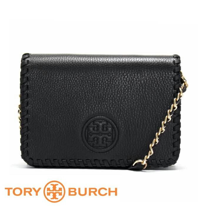 【Tory Burch】編織鍊條多夾層斜背包(黑) 31149790