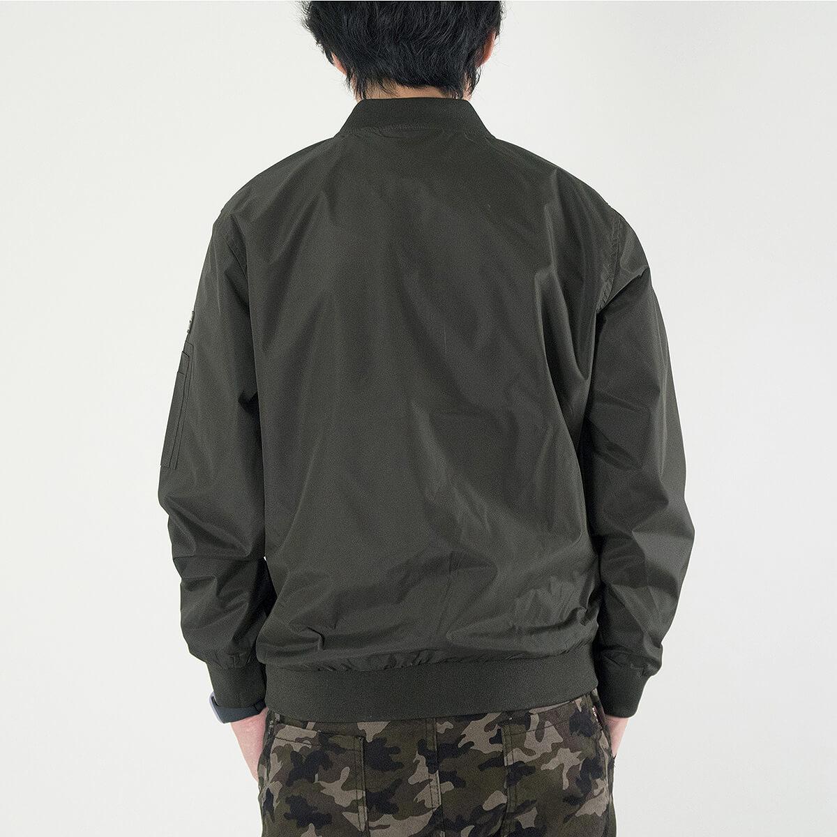 MA-1飛行外套 飛行夾克 空軍外套 防風外套 潮流時尚休閒外套 立領外套 黑色外套 MA-1 Flight Jacket Men's Jackets Casual Jackets (321-889-01)軍綠色、(321-889-02)黑色 M L XL (胸圍114~124公分  45~49英吋) 男 [實體店面保障] sun-e 7