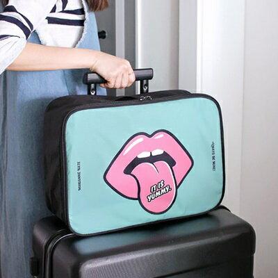 ☆旅行收納包登機包-可愛印花水尼龍女旅行袋2色73pp271【獨家進口】【米蘭精品】