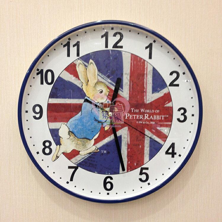 【Peter Rabbit 彼得兔】英國國旗 造型時鐘掛鐘《正版授權》