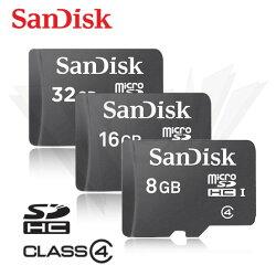 SANDISK 8G 16G 32G Class 4 C4 micro SD 記憶卡 手機擴充