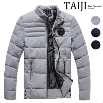 立領外套‧質感橡膠標壓線鋪棉立領外套‧三色【ND90079】-TAIJI
