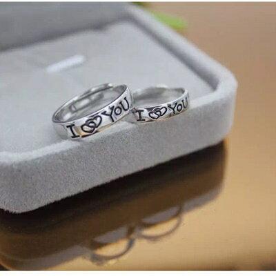 925純銀戒指開口戒~愛心 永恆之戀情人節生日 女飾品2款73dt450~ ~~米蘭 ~