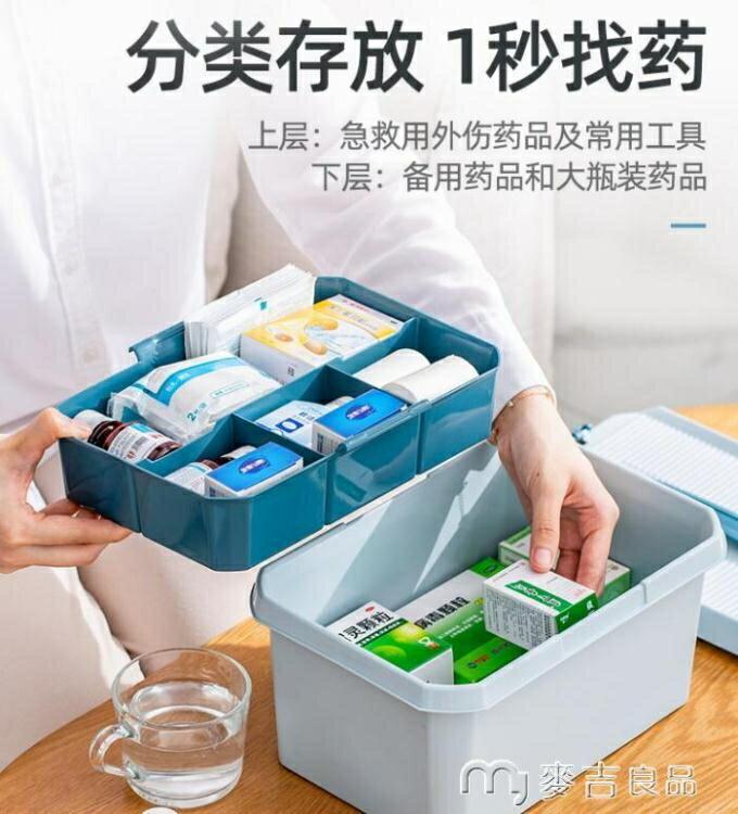 藥箱太力家用藥箱家庭裝護箱兒童常備小型應急藥物收納盒