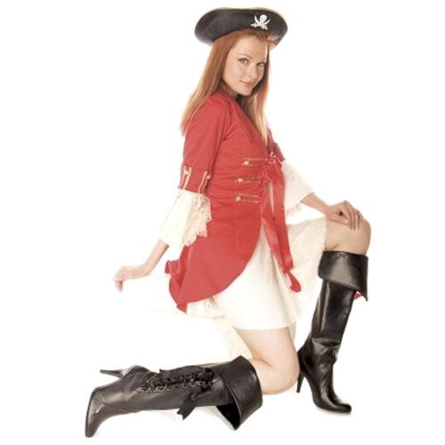 """418-PIRATE, 4"""" Heel Pirate Boot with 3 Ribbons by Ellie Shoes 1"""