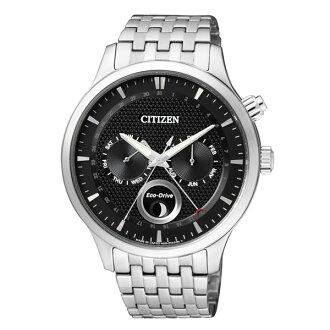 CITIZEN星辰錶 AP1050-56E 多功能典雅光動能腕錶/黑面42mm