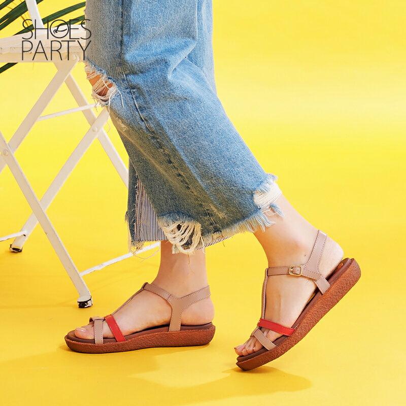 【S2-17622L】Simple+久走不累撞色系帶涼鞋_Shoes Party 1
