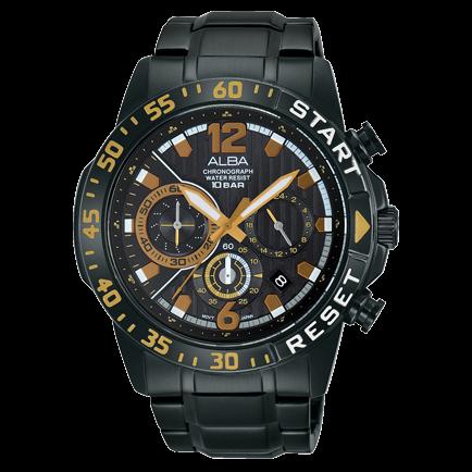 大高雄鐘錶城 【樂天雙12/ 單筆滿3000元登記就抽PS5!】ALBA VD53-X239SD(AT3965X1) 活力運動計時腕錶/ 44mm