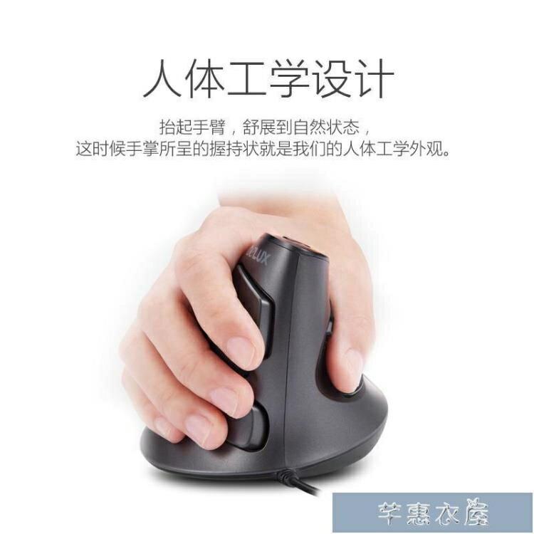 滑鼠多彩垂直滑鼠無線有線靜音電腦立式辦公家用人體工程學設計師滑