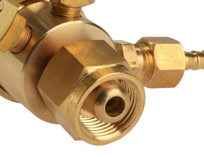 Rear Mount Oxygen Gas Welding Welder Brass Regulator Pressure Gauge 3