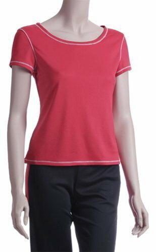 【H.Y SPORT】DRY-WET-TEX 多且5208s 圓領短袖排汗衫 紅色 [抗紫外線排汗衣,隨身型除濕機] 0