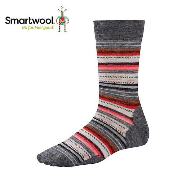 【【蘋果戶外】】Smartwool SW0SW717 052 瑪格麗特紋 日常超薄羊毛中筒襪女襪 美國製造 美麗諾羊毛襪 排汗襪 保暖 吸濕 抗臭