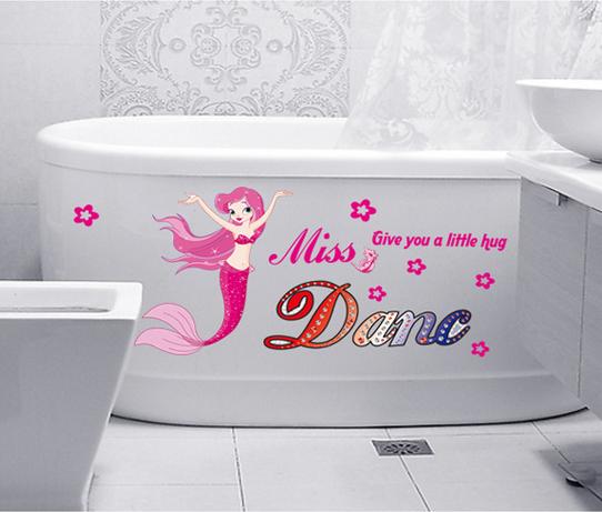 【壁貼王國】 卡通系列 無痕壁貼 《粉紅小美人魚 - AY6012》