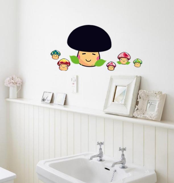 【壁貼王國】 黑板貼系列 無痕壁貼 《蘑菇 - AY629》